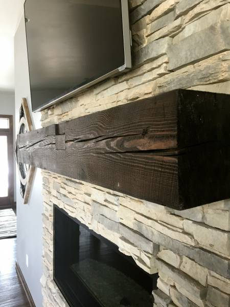 Dark Chocolate Sawn Cut Mantel