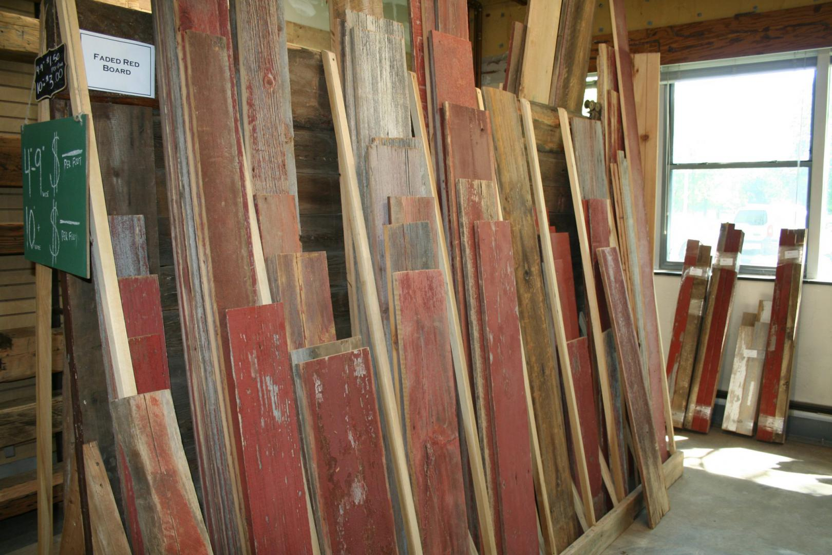 Barn Boards in Showroom