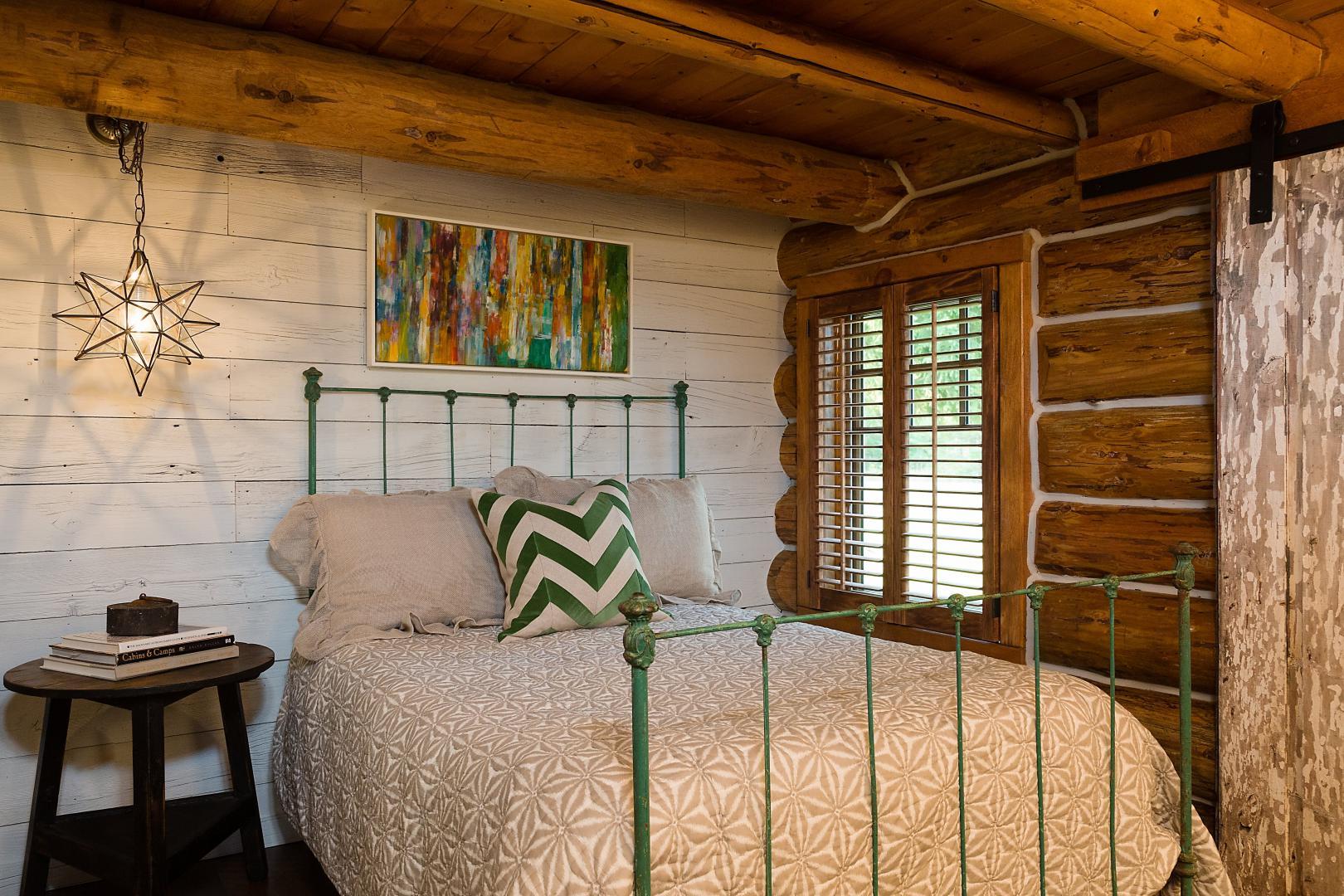 Custom reclaimed wood bedroom